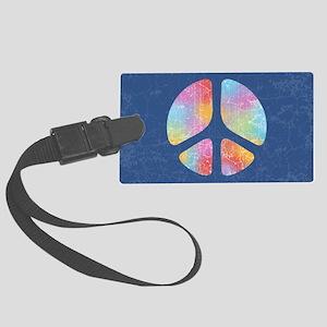 cut-out-peace-4-OV Large Luggage Tag