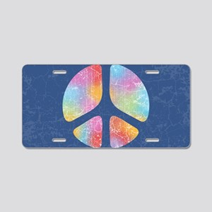cut-out-peace-4-OV Aluminum License Plate