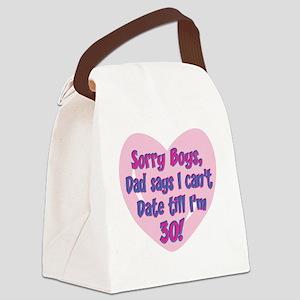 Sorry Boys! Canvas Lunch Bag