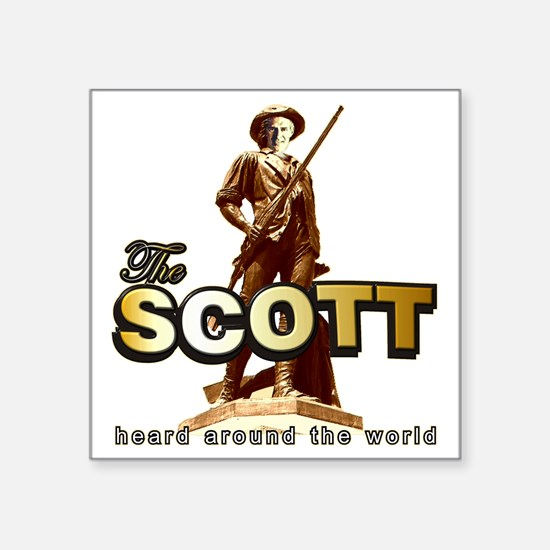 "TheScott12x12-2 Square Sticker 3"" x 3"""