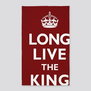 Long Live the King Poster - Dark Re 3'x5' Area Rug