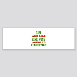 Funny 19 And Like Fine Wine Birthday Sticker (Bump