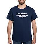 Cancer Survivor Looks Like Dark T-Shirt