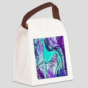 Aqua Grey Canvas Lunch Bag