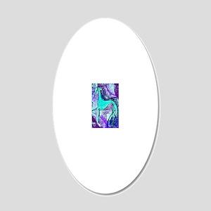 Aqua Grey 20x12 Oval Wall Decal