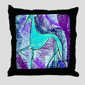 Aqua Grey Throw Pillow