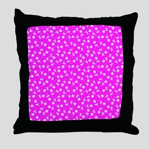 Pink Floral Dance Designer Throw Pillow