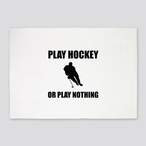 Play Hockey Or Nothing 5'x7'Area Rug