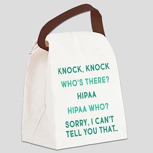 Knock Knock HIPAA Canvas Lunch Bag