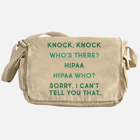 Knock Knock HIPAA Messenger Bag