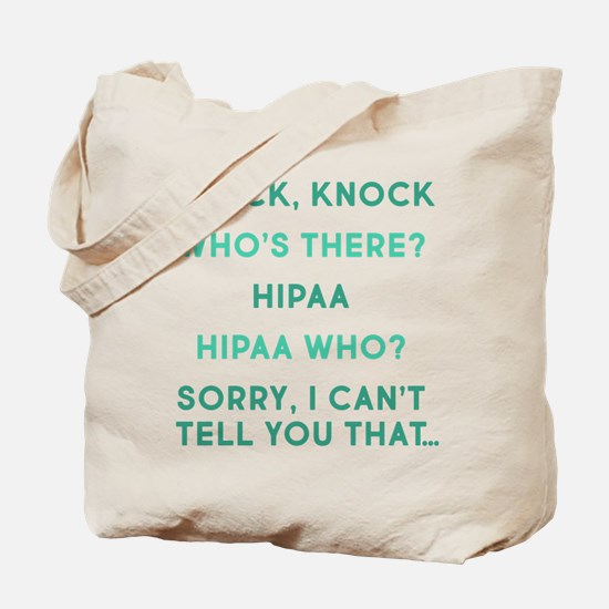Knock Knock HIPAA Tote Bag