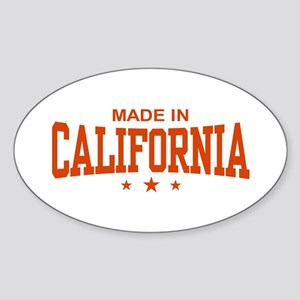 Made in California Oval Sticker
