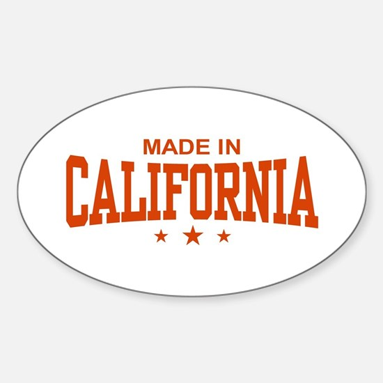 Made in California Oval Decal