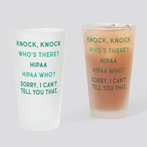 Knock Knock HIPAA Drinking Glass