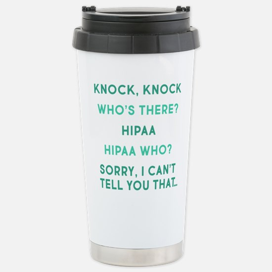 Knock Knock HIPAA Travel Mug