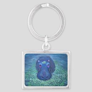 Hippo Gill Landscape Keychain