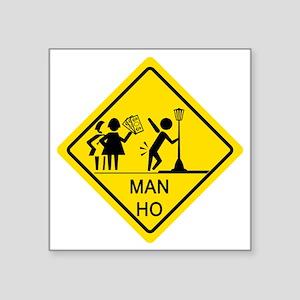"Man-Ho-1 Square Sticker 3"" x 3"""
