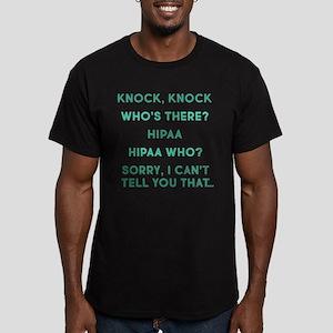 Knock Knock HIPAA Men's Fitted T-Shirt (dark)