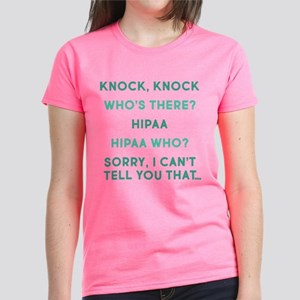 Knock Knock HIPAA Women's Dark T-Shirt