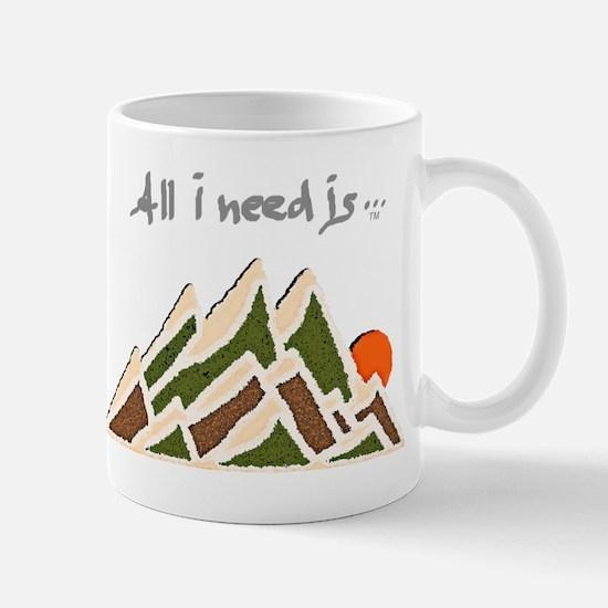 Need Mountains on Dark Material Mug