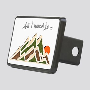 Need Mountains on Dark Mat Rectangular Hitch Cover