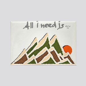 Need Mountains on Dark Material Rectangle Magnet