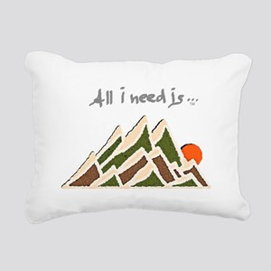 Need Mountains on Dark M Rectangular Canvas Pillow