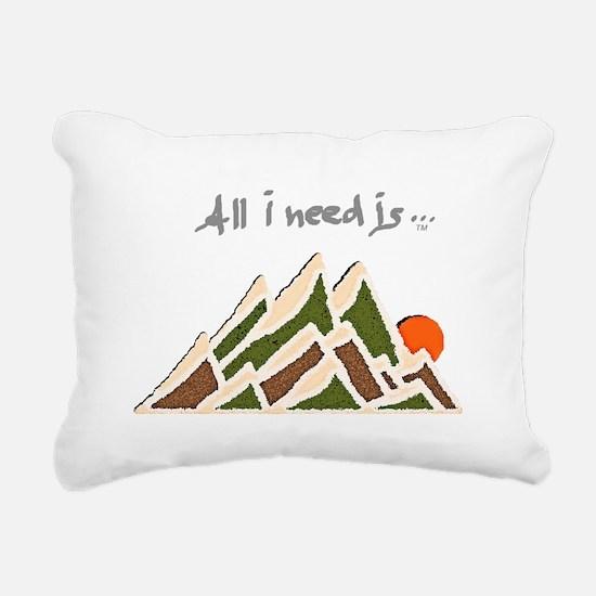 Need Mountains on Dark M Rectangular Canvas Pillow
