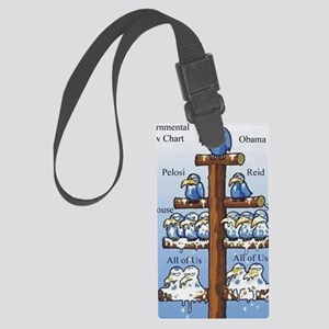 Govnmt flow chart Large Luggage Tag