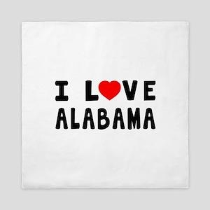 I Love Alabama Queen Duvet