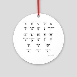 3-Morse-Code Round Ornament