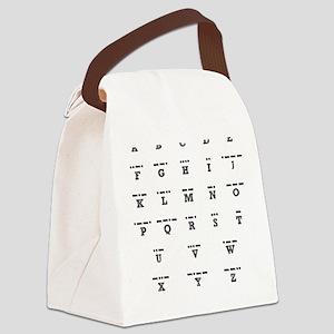 3-Morse-Code Canvas Lunch Bag