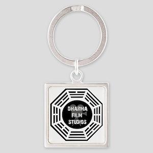 Dharma Films Studios Square Keychain