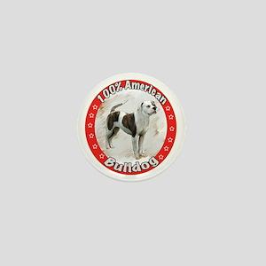 american bulldog copyred Mini Button