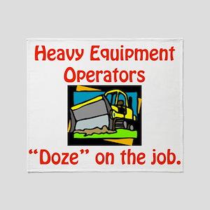 heavy equip Throw Blanket