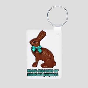 Chocolate Bunny Aluminum Photo Keychain
