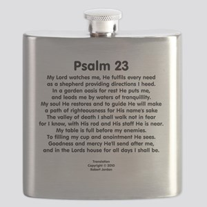 Psalm23-black Flask
