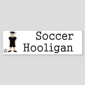 soccerhooligancap Sticker (Bumper)