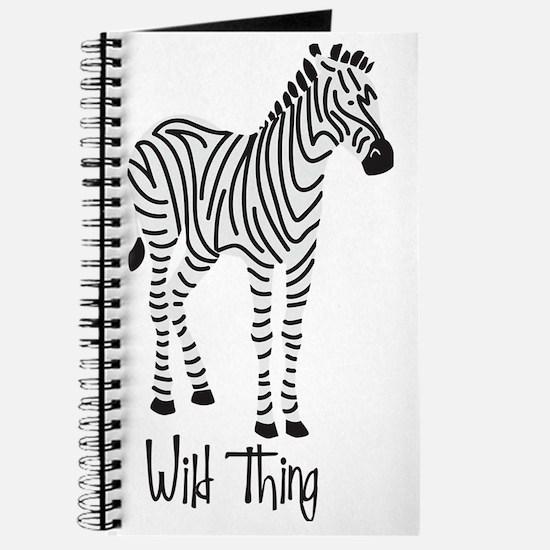 Wild Thing Zebra Journal