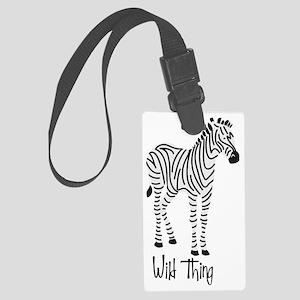 Wild Thing Zebra Large Luggage Tag