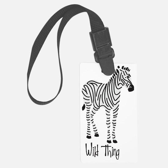 Wild Thing Zebra Luggage Tag