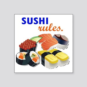 "Sushi Platter Square Sticker 3"" x 3"""