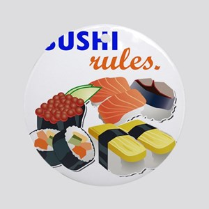 Sushi Platter Round Ornament
