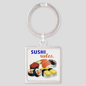 Sushi Platter Square Keychain