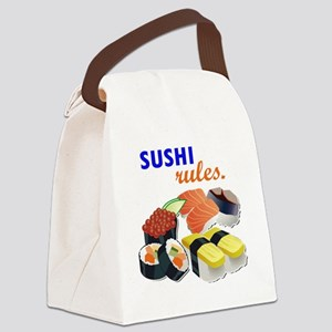 Sushi Platter Canvas Lunch Bag
