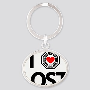 2-i-heart-lost Oval Keychain