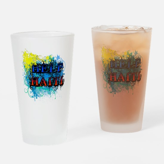 help haiti Drinking Glass