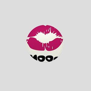 Smooch Lipstick Kiss Mini Button