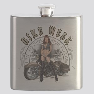 CP1010-Bike Week Chaps Babe Flask