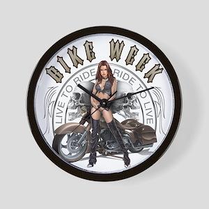CP1010-Bike Week Chaps Babe Wall Clock